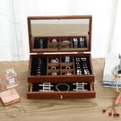 帶鏡子實木首飾盒歐式木質首飾收納盒韓國公主飾品盒結婚生日禮物 小時光生活館