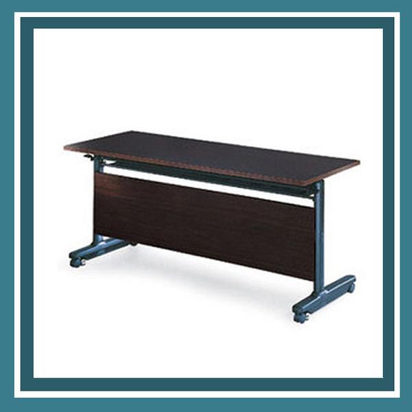 【必購網OA辦公傢俱】PUT-1560E  黑胡桃木折合式會議桌