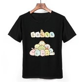角落生物T恤二次元動漫周邊童裝可愛貓咪白熊企鵝炸短袖衣服棉