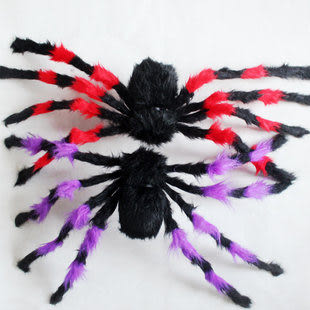85CM萬聖節彩色大蜘蛛