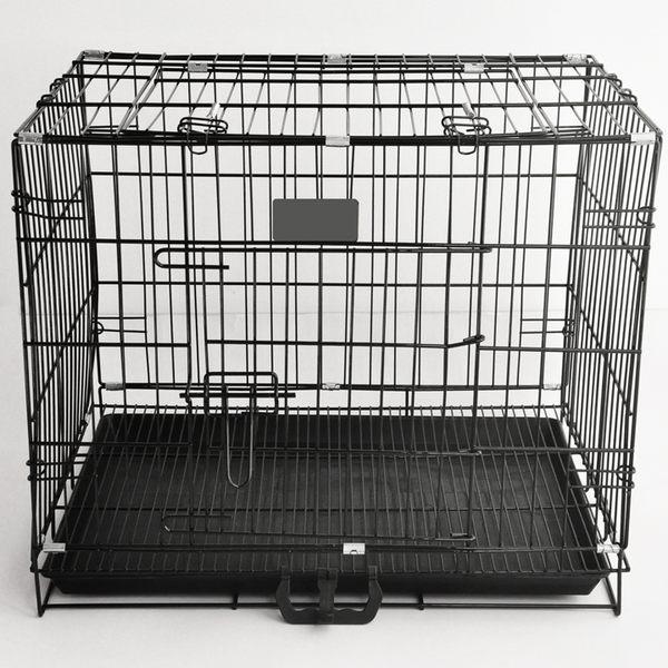 寵物籠子加粗折疊 泰迪狗籠 鐵籠鐵絲籠 狗屋貓籠 天窗