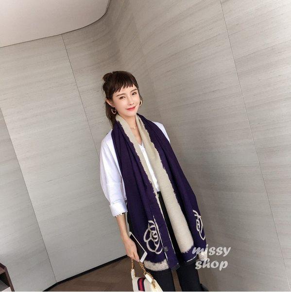 【missy shop】韓 空運 山茶花  围巾