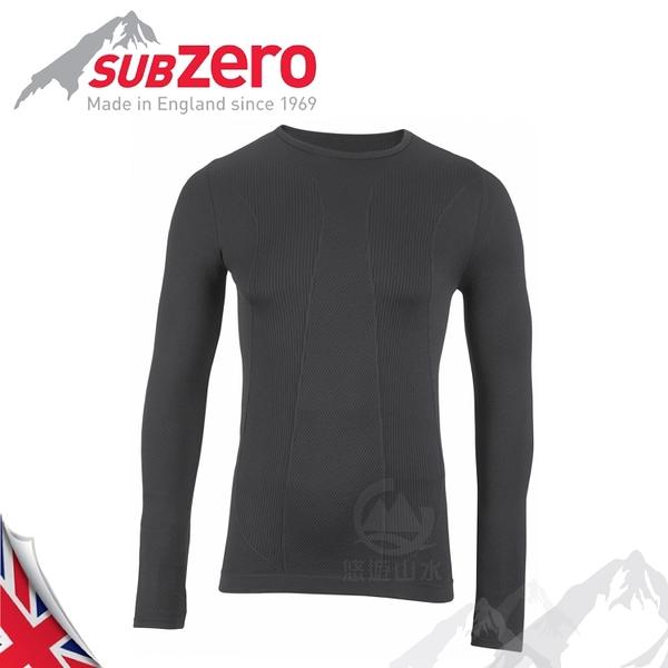【Sub Zero 英國 Factor1+ 長袖無縫排汗衣《黑》】Factor 1 PLUS/內衣/薄長袖/防曬