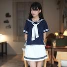 日系海軍風白色水手服jk制服女學生裝領帶...