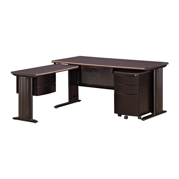 【森可家居】胡桃160辦公桌(全組) 7JX282-1