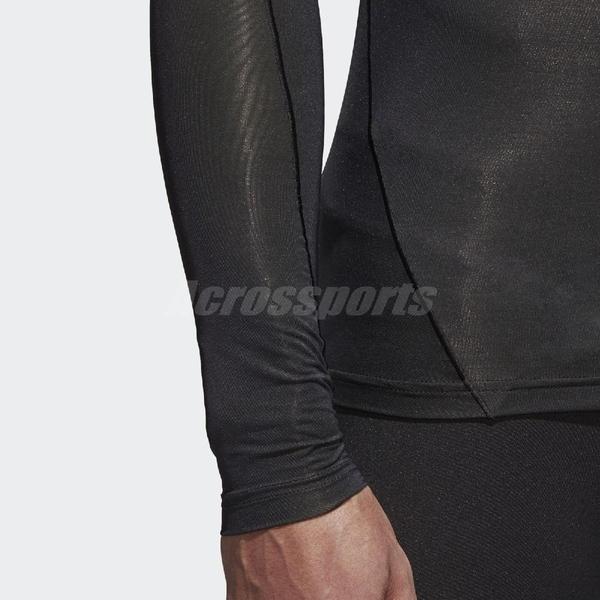 adidas 緊身衣 Alphaskin Tech Tee 黑 男款 訓練 健身 長袖 【ACS】 CF7187