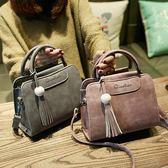 手提包 女士包包新品秋季新款女包肩背包簡約時尚側背包斜背包小包包流蘇包 最後一天85折