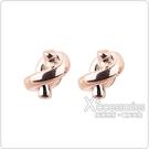 kate spade經典簡約水手結設計穿式耳環(玫瑰金)