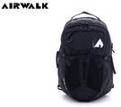 【橘子包包館】AIRWALK 甲蟲不飛 謢脊胸腰扣越野用筆電後背包 A635325320 黑色