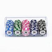 德州撲克籌碼100片面值顏色自選定制套裝皇冠裝 麻將牌籌碼幣 小宅女