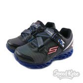 SKECHERS Flex Charge 可充電 發亮 深藍 魔鬼氈 童鞋 90700LBKRY【SP】
