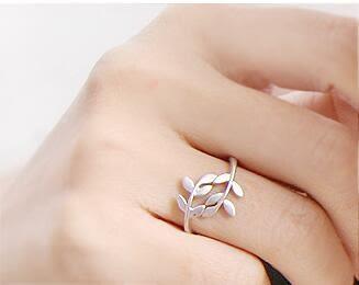 【TT57】葉子 樹葉 戒指  個性戒指 情侶戒指 愛情戒指 送禮 戒指