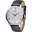 天梭 TISSOT Tradition系列 懷舊古典時尚腕錶 T0636101603800
