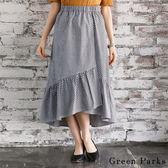 ❖ Hot item ❖ 格紋拼接荷葉邊打褶裙 - Green Parks
