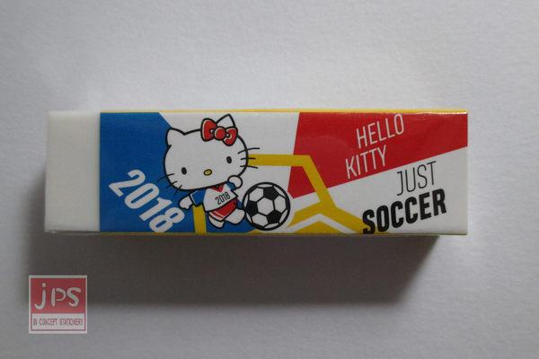 Hello Kitty 凱蒂貓 世足 黏屑橡擦 踢球 KRT-663550a