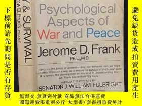 二手書博民逛書店SANITY罕見and SURVIVAL Psychological Aspects of War and Pea