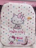 ♥小花花日本精品♥Hello kitty凱蒂貓米色絨毛滿版點點圖案車用椅墊汽車椅墊汽車必備 88935904