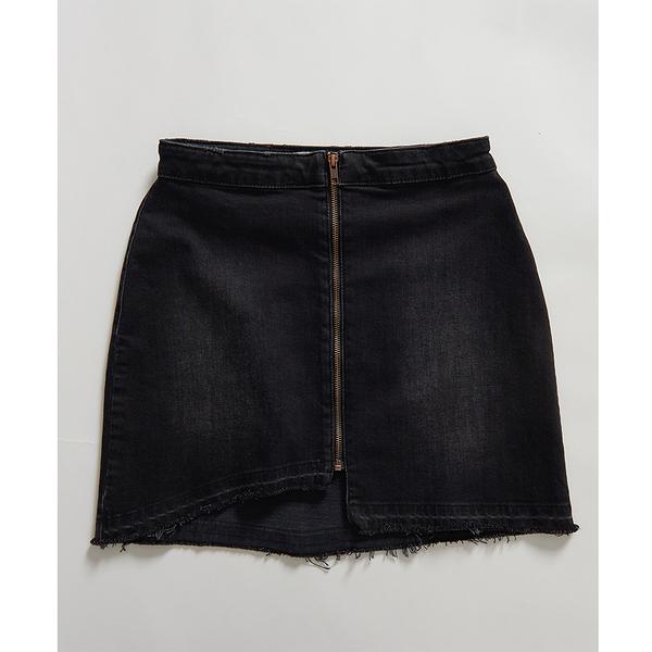 ONETEASPOON  WW  WORN RAVEN VIXEN HIGH WAIST A-LINE DENIM SKIRT  牛仔短裙-(女)