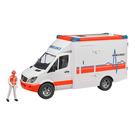 德國BRUDER仿真大型車 MB 救護車與司機