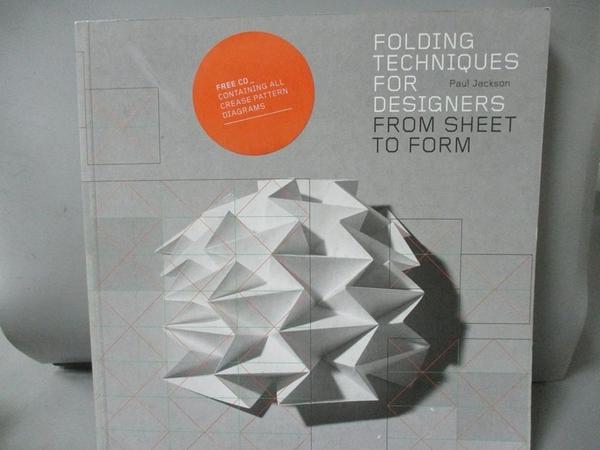 【書寶二手書T1/設計_QEP】Folding Techniques for Designers: From Sheet to Form_Jackson, Paul