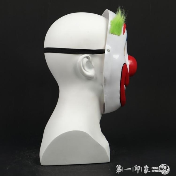 電影小丑JOKER同款半臉綠發面具蝙蝠俠小丑惡作劇新款吸塑 第一印象