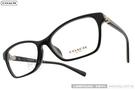 COACH 光學眼鏡 CO6091BF 5002 (黑) 時尚小花晶鑽款 # 金橘眼鏡