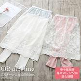 女童長裙 甜美蕾絲拼接內搭假兩件褲裙 QB allshine