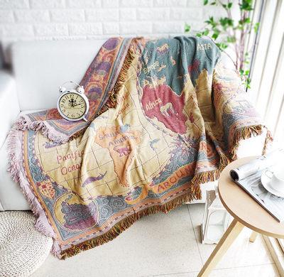 北歐純色緹花沙發巾 沙發布 全蓋沙發套 沙發墊 防塵布 線毯45 (230*340cm)
