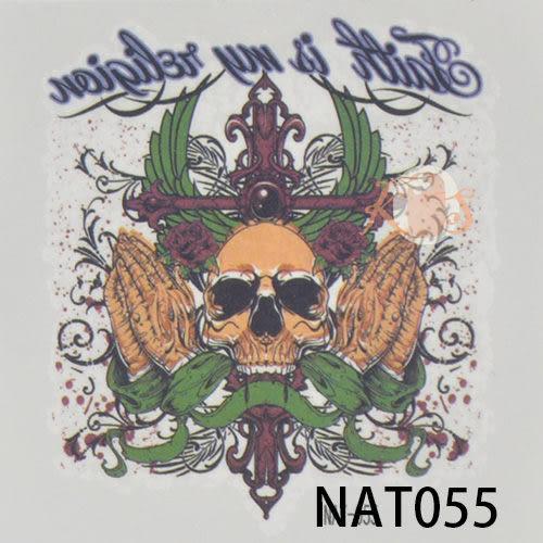 «NiWeiTa» mini Tattoo 防水彩色紋身貼紙 刺青貼紙 Devil款 6x6CM (暑假出清價)