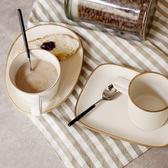 萬古燒杯子碟子套裝 創意復古陶瓷咖啡杯早餐杯粗陶水杯   夢曼森居家