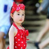 女童連體泳衣小童小孩1-2-3-4-5-6歲女寶寶溫泉可愛兒童女孩泳裝·全館免運