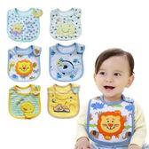 純棉口水巾 Baby Bibs 卡通動物 三層防水圍兜 CA11537 好娃娃