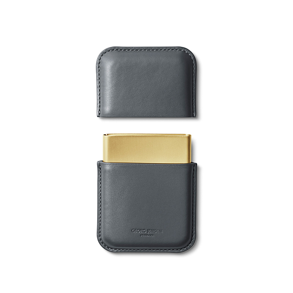 丹麥 Georg Jensen Rohner Business Card Holder, Shade Series 喬治傑生 陰影系列 皮革 名片盒