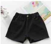 女童牛仔短褲夏薄款外穿韓版時尚2020新款夏季裝破洞熱褲兒童褲子