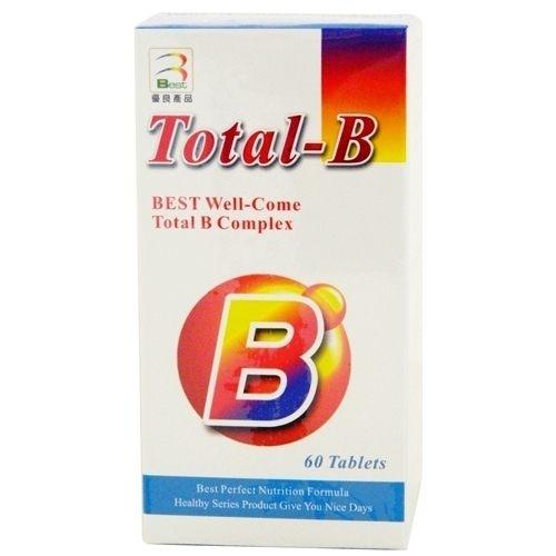 『好康特惠-買2送1』美國製造進口 安博氏 貝斯特 維而康錠 60粒 維他命B群+C