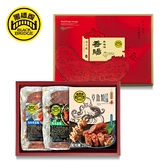 【黑橋牌】特製三味香腸禮盒-網路限定包裝(450g原味飛魚卵香腸+450g馬告香腸+360g章魚燒香腸)