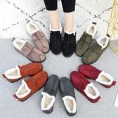 冬季雪地靴女加絨加厚女靴短筒正韓百搭保暖媽媽棉鞋短靴【快速出貨】