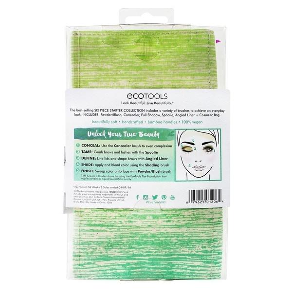 【愛來客 】美國直送~新款古銅色EcoTools Bamboo 6 Piece Brush 1206# 6件化妝刷具組