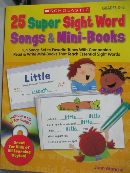 【書寶二手書T4/進修考試_ECO】25 Super Sight Word Songs & Mini-Books