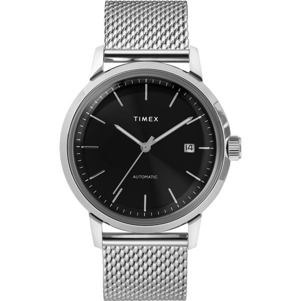 【TIMEX】天美時 復刻系列 經典機械錶  (銀/黑TXTW2T22900)