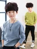 童裝男童t恤長袖兒童秋季新款中大童純棉韓版打底衫體恤潮 Korea時尚記