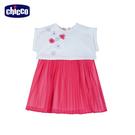 chicco-花語-百褶雪紡紗兩件式洋裝