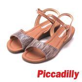 Piccadilly 露齒坡跟涼鞋 女鞋 卡其(另有黑)