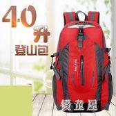 短途書包登山包 多功能旅行包雙肩男戶外40升專業小號輕便背包 BT10960『優童屋』