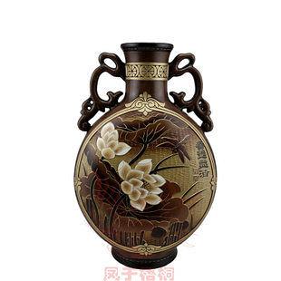 耳扁瓶愛蓮說原創手工工藝品 陶瓷擺件