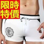 四角泳褲-溫泉戲水高檔獨特男平口褲56d88【時尚巴黎】