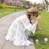 薄外套 女童防曬衣2019新韓版洋氣輕薄透氣中大童寶寶外套兒童長款防曬服 1色