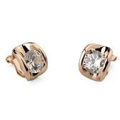 耳環 925純銀水晶-經典耀眼生日情人節禮物女耳針4色73gt70【時尚巴黎】