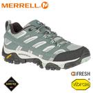 【MERRELL 美國 女 MOAB 2 GORE-TEX 防水健行鞋《灰綠色》】033468/登山鞋/戶外多功能鞋