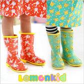 Lemonkid 檸檬寶寶兒童雨鞋滿版動物果凍色男女款24506